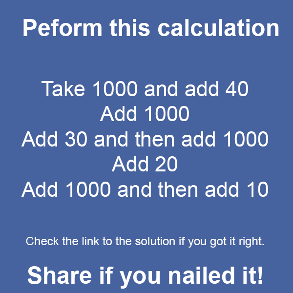 Peform Calculation