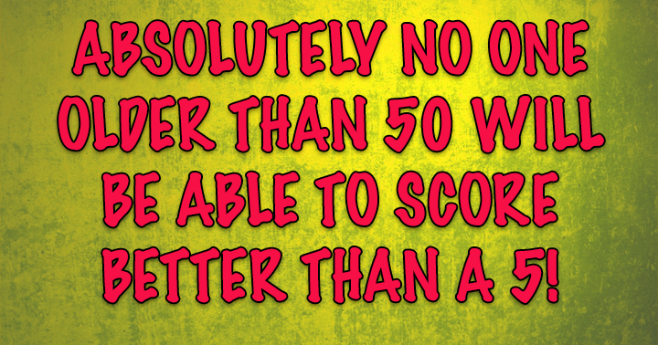 Can you score a 5 or better?