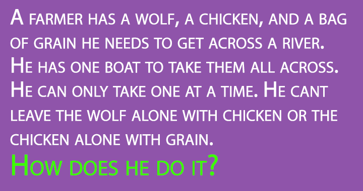 A fun brain teaser to activate your brain for this General Knowledge Quiz