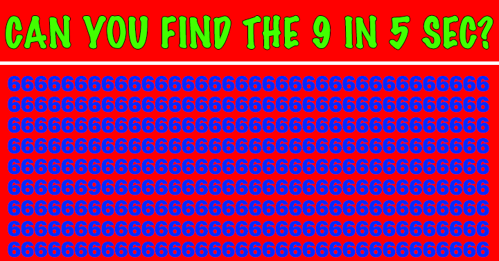 If you saw the 9 in 5 sec you stand a chance in this Math Quiz