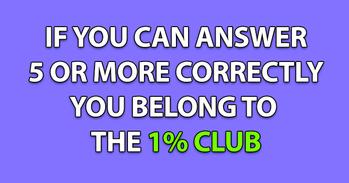 Are you in the 1% club?