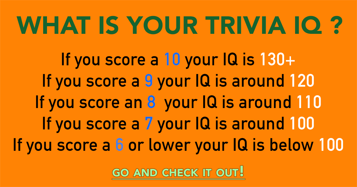 What is your trivia IQ?