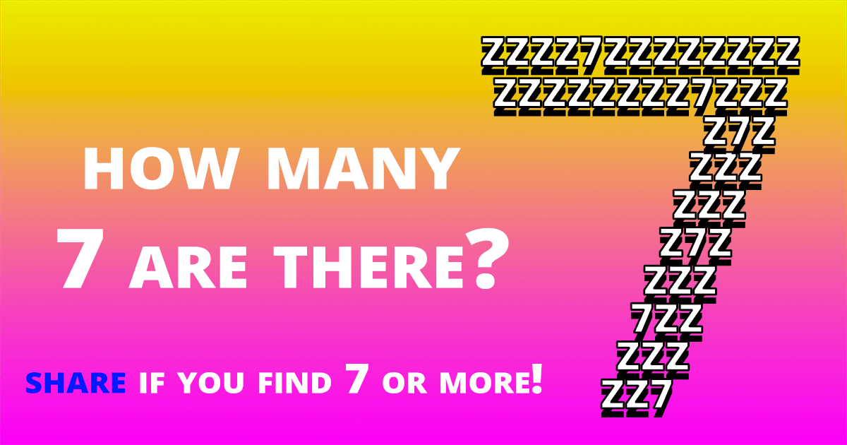 How many 7 are there?