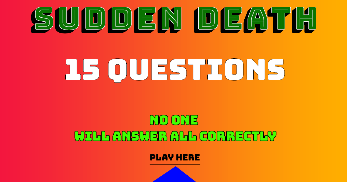 Nobody gets all 15 questions correctly!