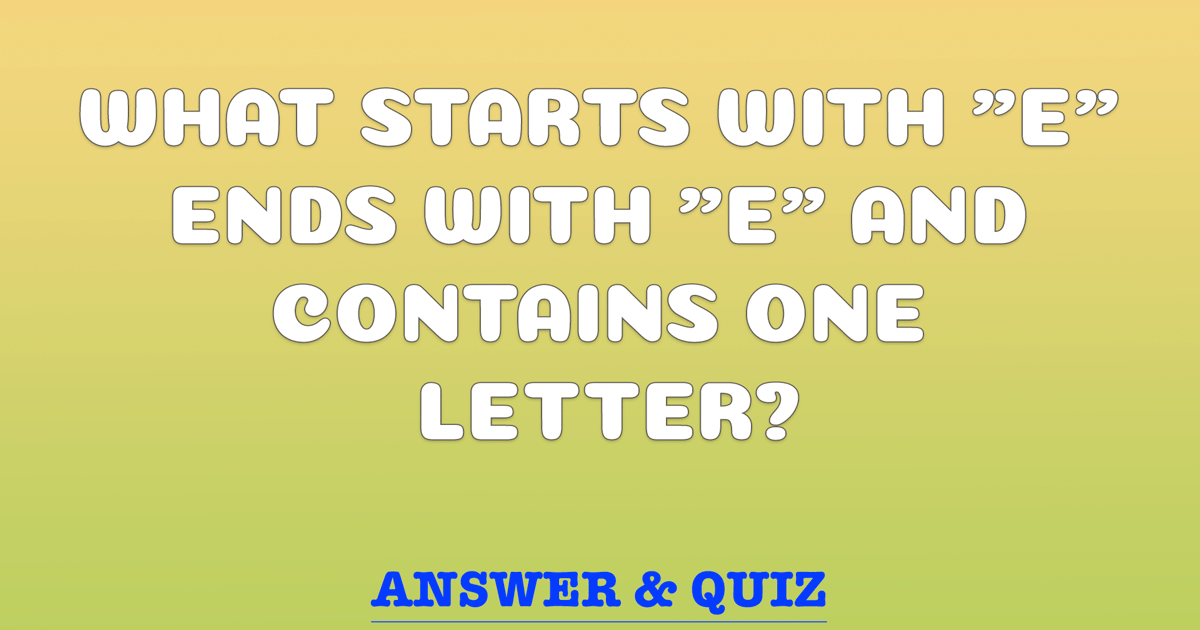 Do you know the answer to this riddle?