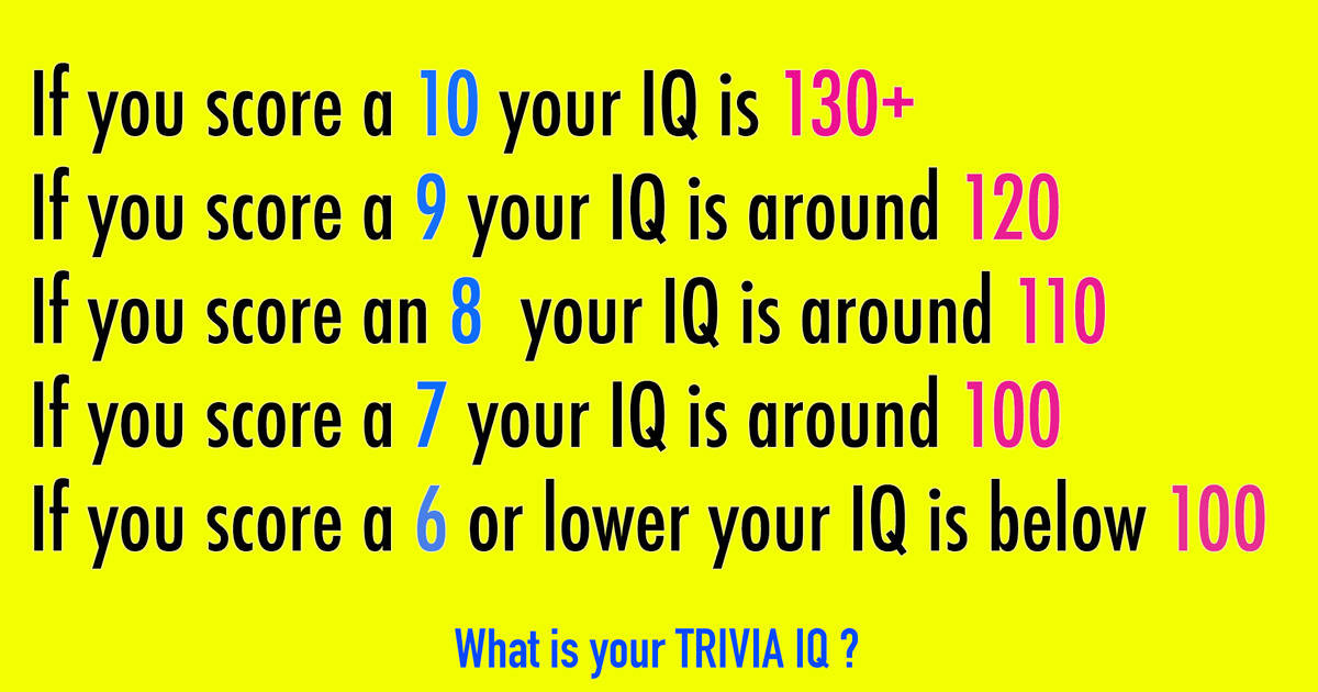 Let's find out of your IQ is above 100!