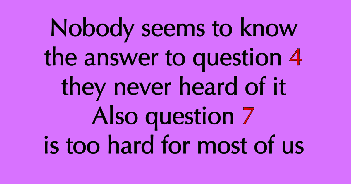Mixed Knowledge Quiz