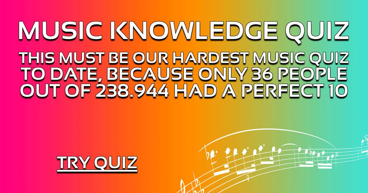 Music Knowledge Quiz