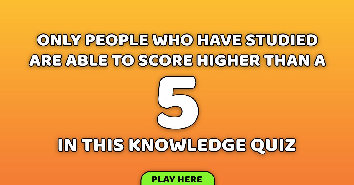 Very Difficult Trivia Quiz