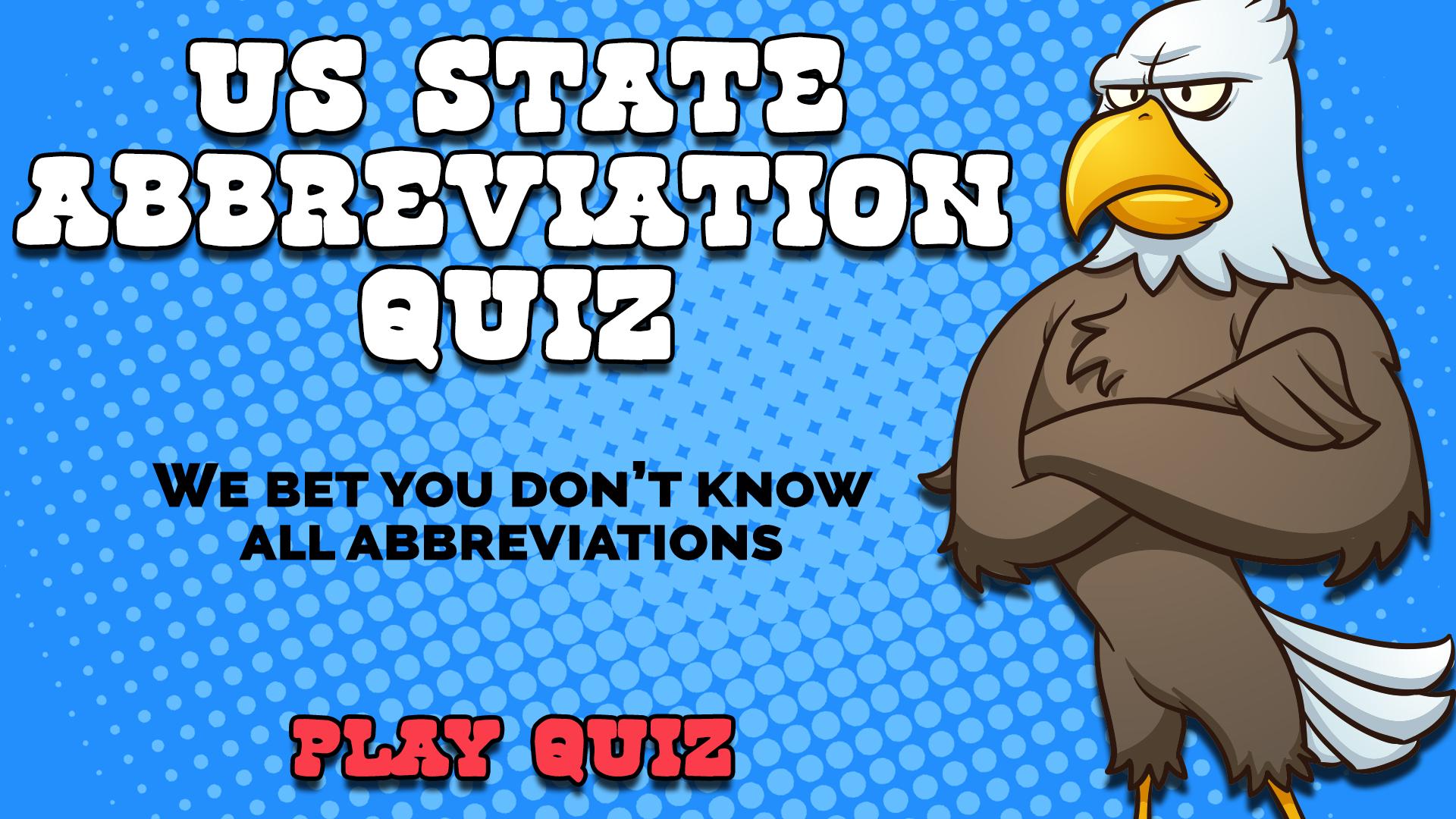 US State Abbreviations Quiz