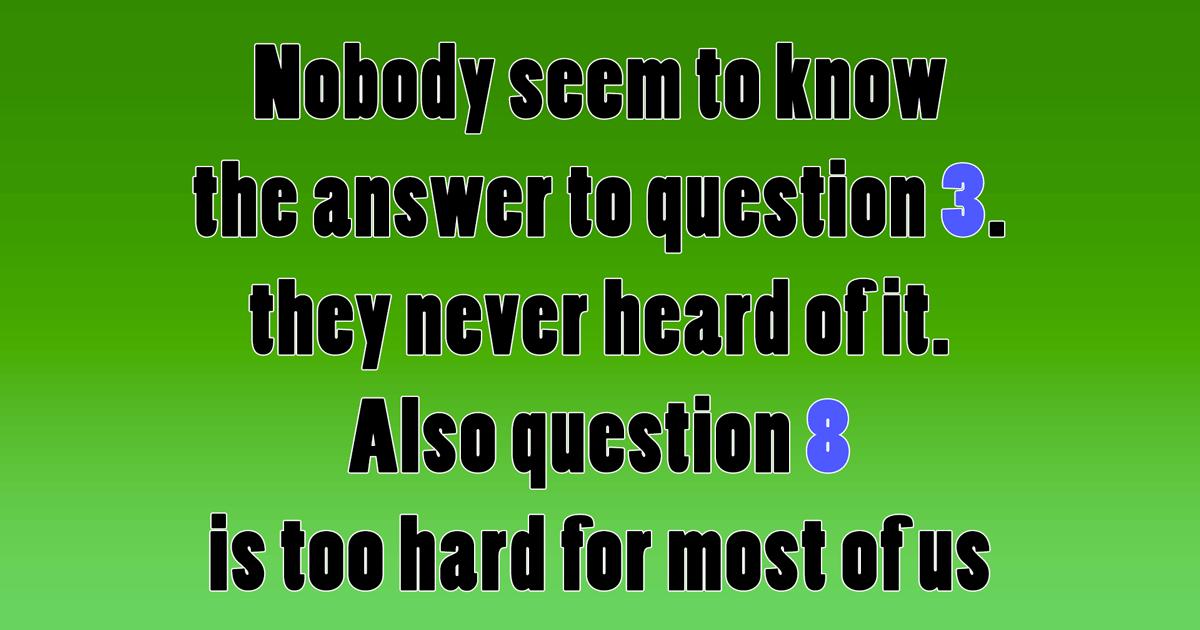 Play this mixed trivia quiz