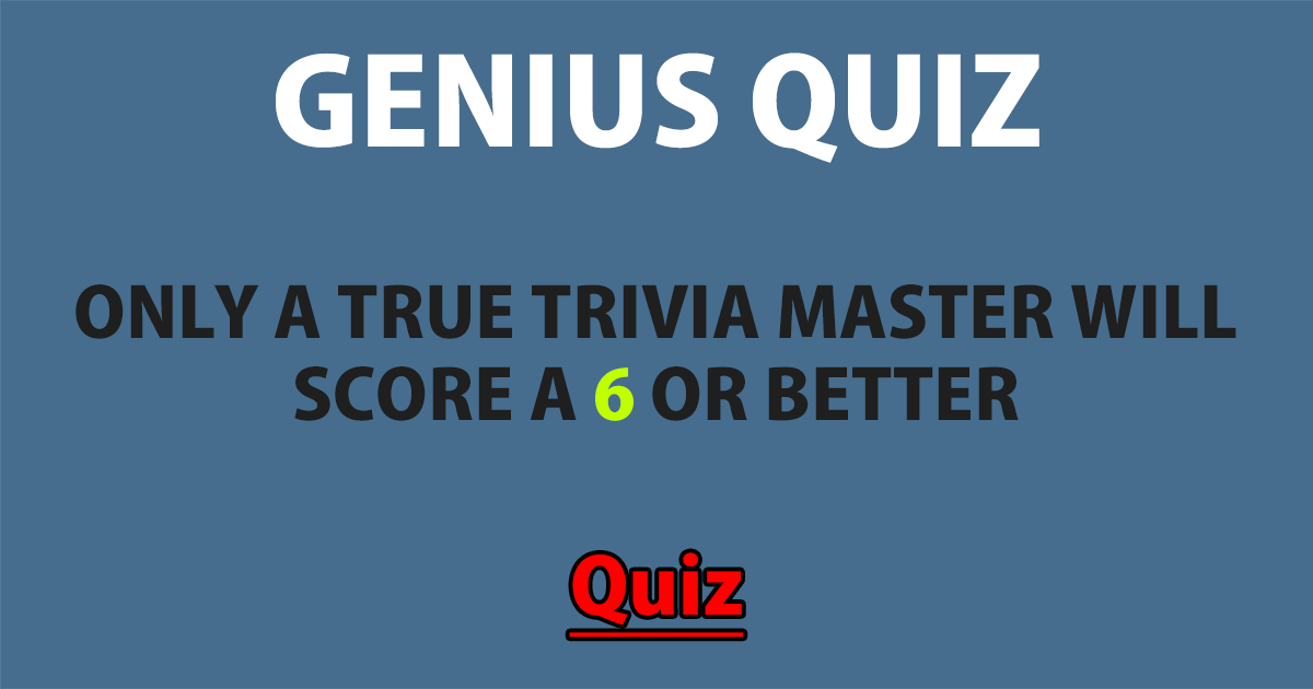 Hard Genius Quiz
