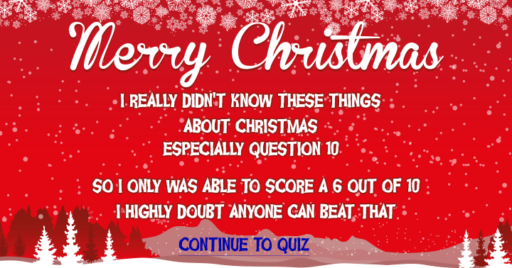 Do you know these things about Christmas?