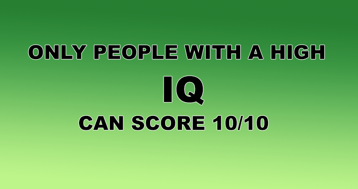 Is your IQ high enough?