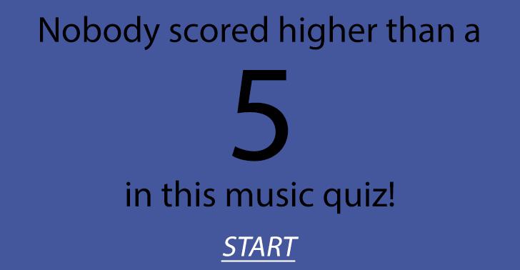 Hard music quiz