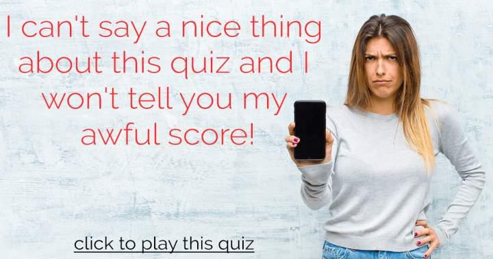 Awful Knowledge Quiz