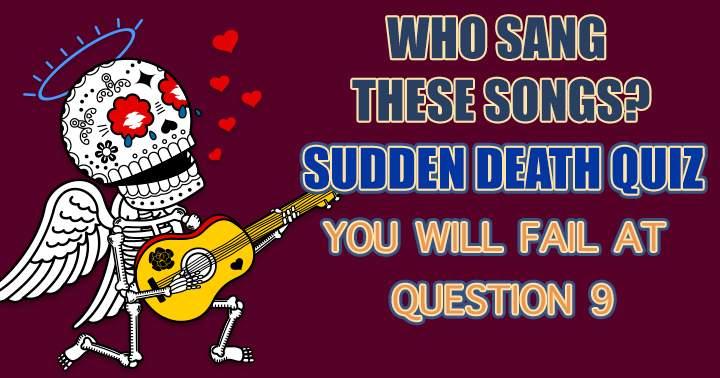 Who Sang Sudden Death Quiz