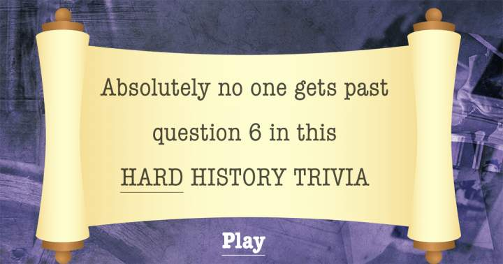 HARD History Trivia
