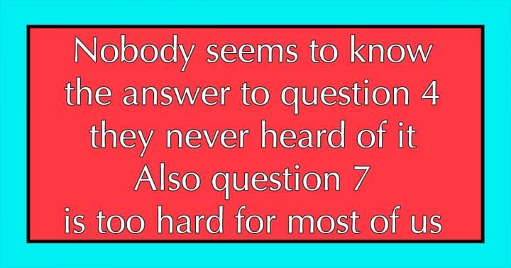 10 Hard Trivia Questions